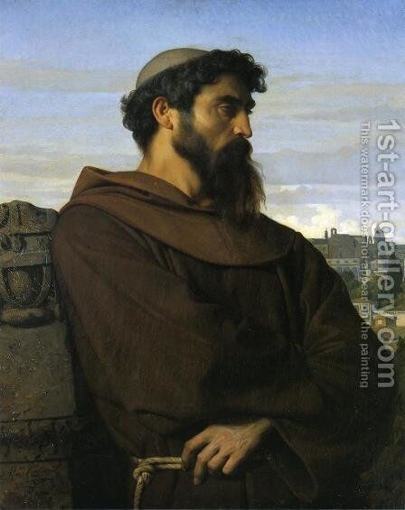 The Roman Monk by Alexandre Cabanel - Reproduction Oil Painting