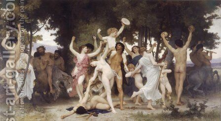La Jeunesse de Bacchus (The Youth of Bacchus) by William-Adolphe Bouguereau - Reproduction Oil Painting
