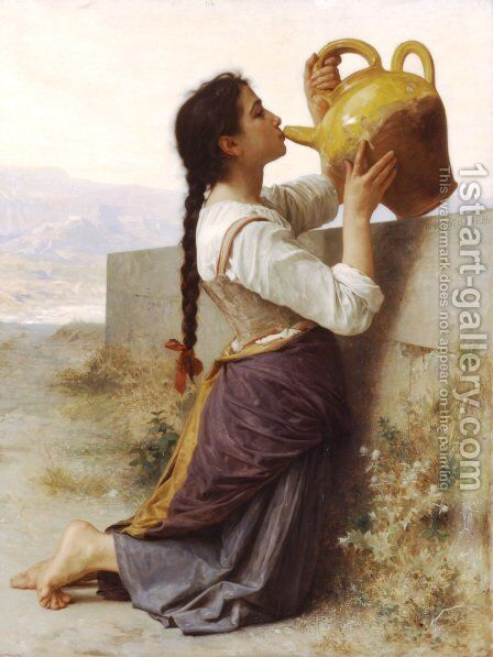 La Soif (Thirst) by William-Adolphe Bouguereau - Reproduction Oil Painting