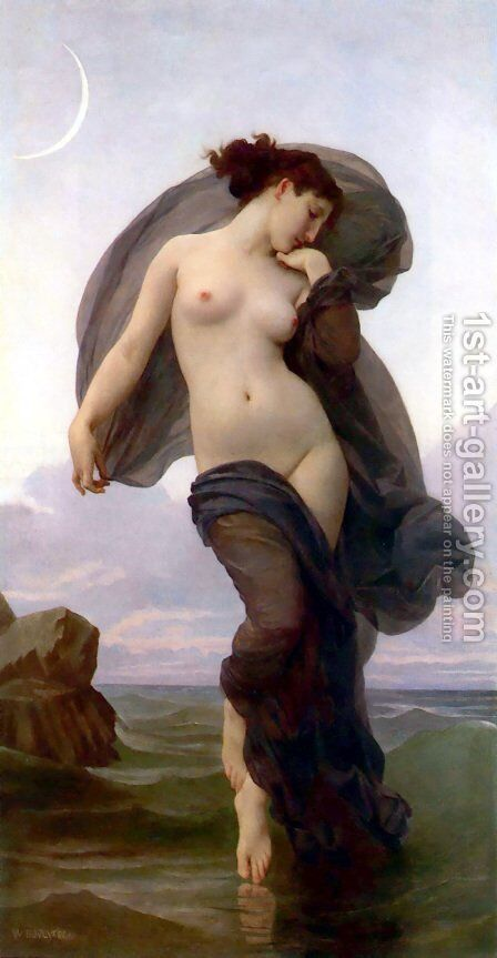 Le crepuscule (Twilight) (or Evening Mood) by William-Adolphe Bouguereau - Reproduction Oil Painting