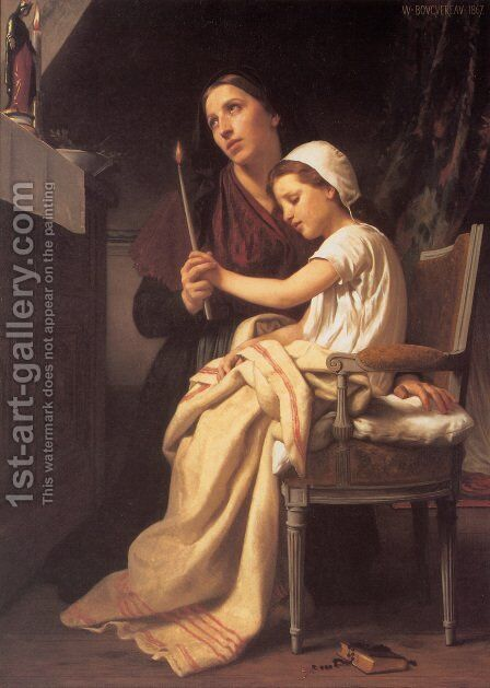 Le voeu (The Vow) (or The Thank Offering) by William-Adolphe Bouguereau - Reproduction Oil Painting