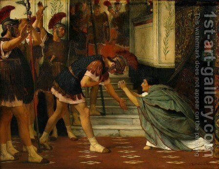 Claudius Summoned by Sir Lawrence Alma-Tadema - Reproduction Oil Painting
