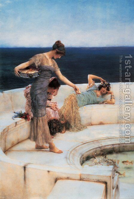 Silver Favorites by Sir Lawrence Alma-Tadema - Reproduction Oil Painting