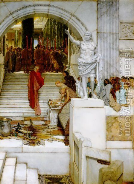 After the Audience by Sir Lawrence Alma-Tadema - Reproduction Oil Painting