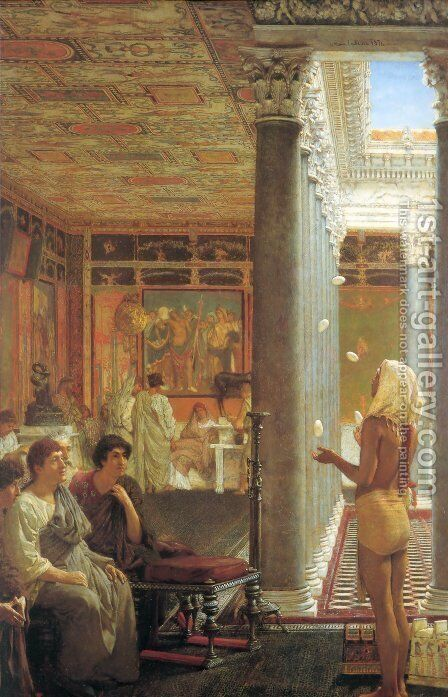 Egyptian Juggler by Sir Lawrence Alma-Tadema - Reproduction Oil Painting