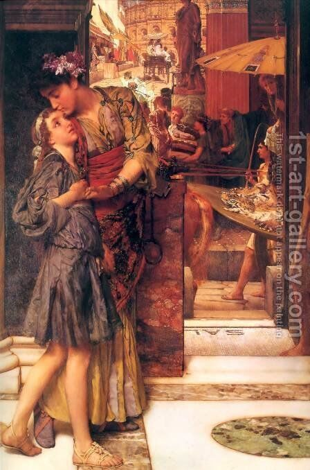The Parting Kiss by Sir Lawrence Alma-Tadema - Reproduction Oil Painting