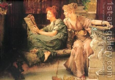 Comparisons by Sir Lawrence Alma-Tadema - Reproduction Oil Painting