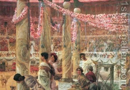 Caracalla and Geta by Sir Lawrence Alma-Tadema - Reproduction Oil Painting