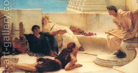 A Reading from Homer by Sir Lawrence Alma-Tadema - Reproduction Oil Painting