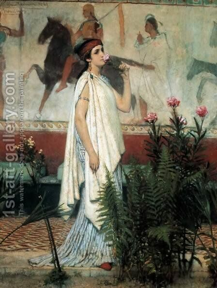 A Greek Woman by Sir Lawrence Alma-Tadema - Reproduction Oil Painting