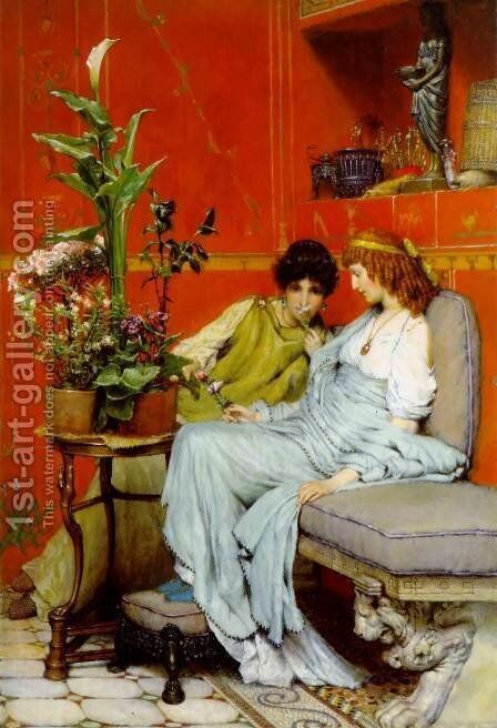 Confidences by Sir Lawrence Alma-Tadema - Reproduction Oil Painting