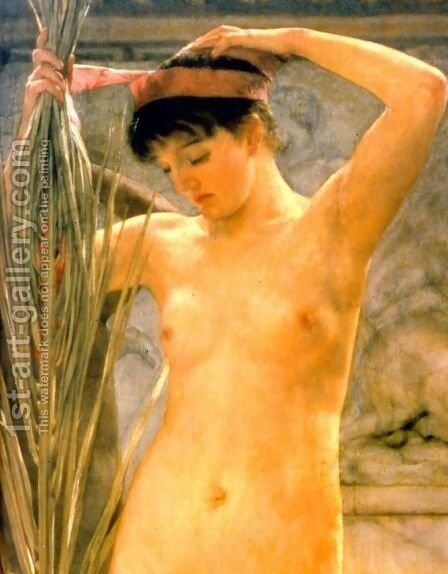 A Sculptor's Model - detail (or Venus Esquilina) by Sir Lawrence Alma-Tadema - Reproduction Oil Painting