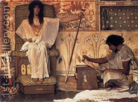 Joseph - Overseer of the Pharoah's Granaries by Sir Lawrence Alma-Tadema - Reproduction Oil Painting
