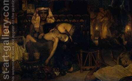 Death of the Pharaoh's Firstborn Son by Sir Lawrence Alma-Tadema - Reproduction Oil Painting