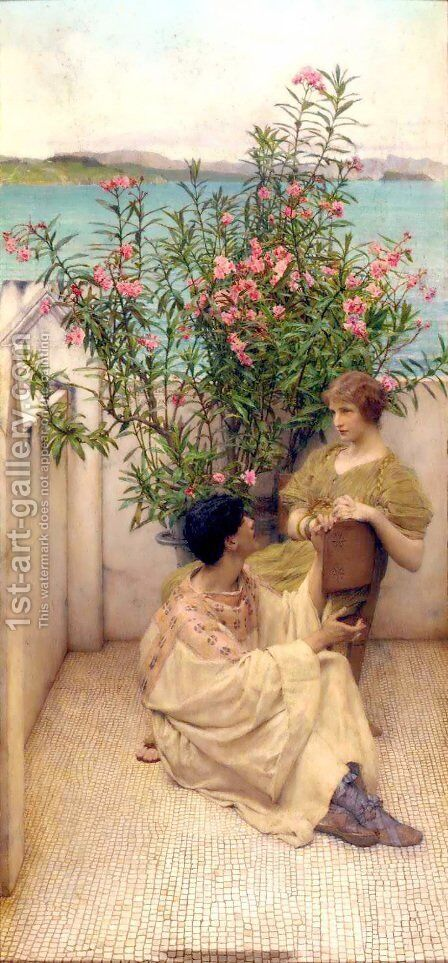 Courtship by Sir Lawrence Alma-Tadema - Reproduction Oil Painting