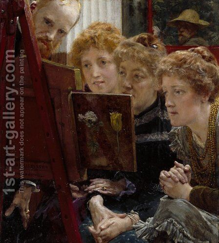 A Family Group by Sir Lawrence Alma-Tadema - Reproduction Oil Painting