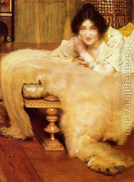 A Listener by Sir Lawrence Alma-Tadema - Reproduction Oil Painting