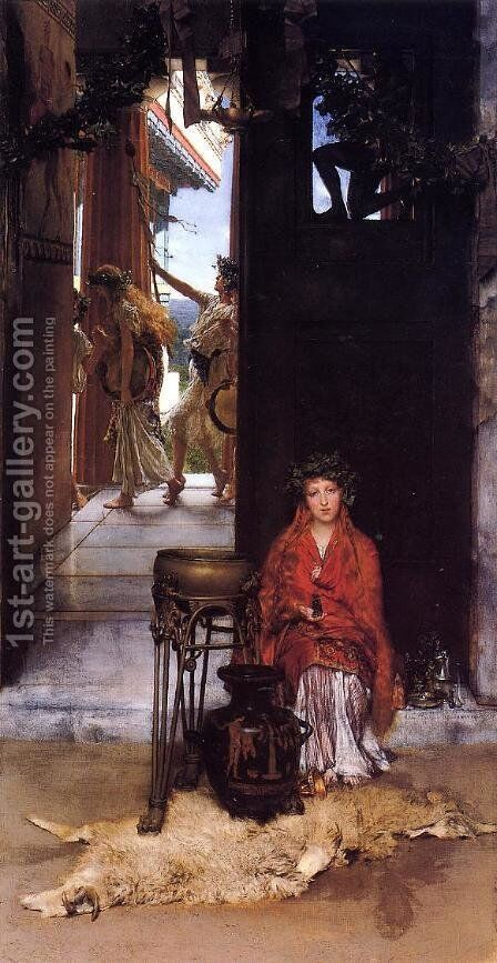 The Way to the Temple by Sir Lawrence Alma-Tadema - Reproduction Oil Painting