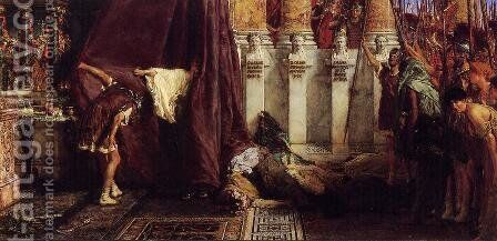 Ave, Caesar! Io, Saturnalia! by Sir Lawrence Alma-Tadema - Reproduction Oil Painting