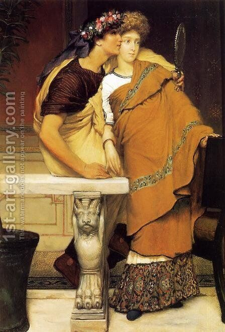 The Honeymoon by Sir Lawrence Alma-Tadema - Reproduction Oil Painting