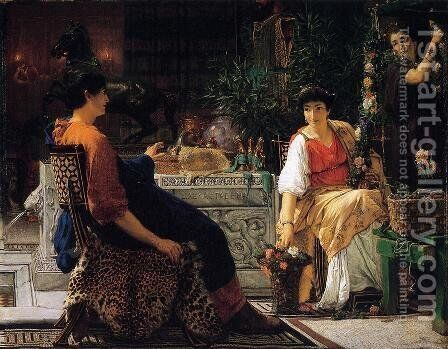 Preparations for the Festivities by Sir Lawrence Alma-Tadema - Reproduction Oil Painting