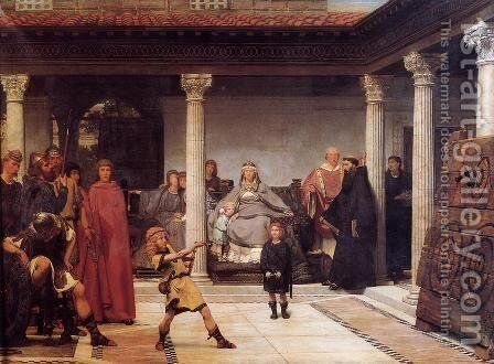 The Education of the Children of Clovis by Sir Lawrence Alma-Tadema - Reproduction Oil Painting