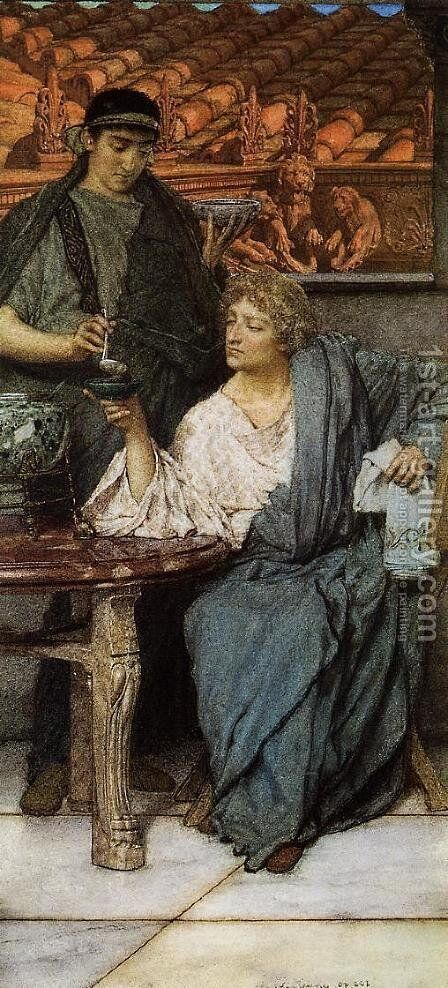 The Roman Wine Tasters by Sir Lawrence Alma-Tadema - Reproduction Oil Painting