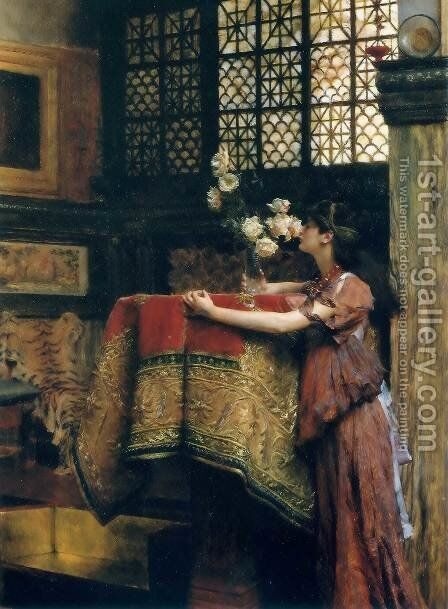 In My Studio by Sir Lawrence Alma-Tadema - Reproduction Oil Painting