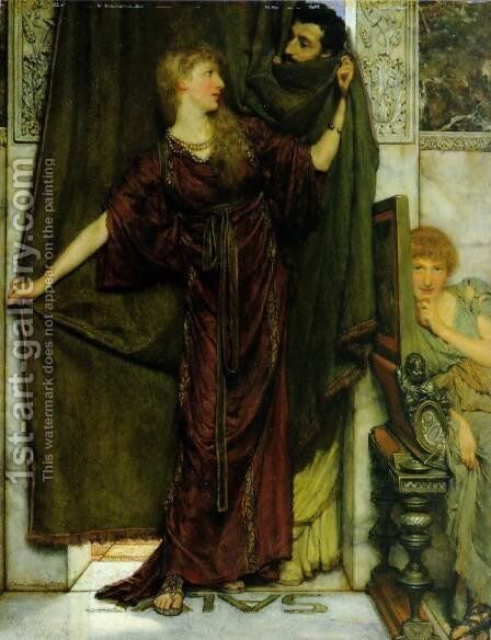 Not at Home by Sir Lawrence Alma-Tadema - Reproduction Oil Painting