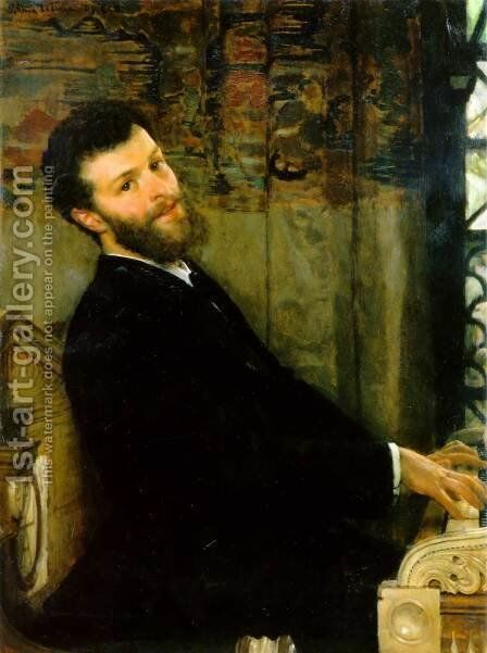 Portrait of the Singer George Henschel by Sir Lawrence Alma-Tadema - Reproduction Oil Painting