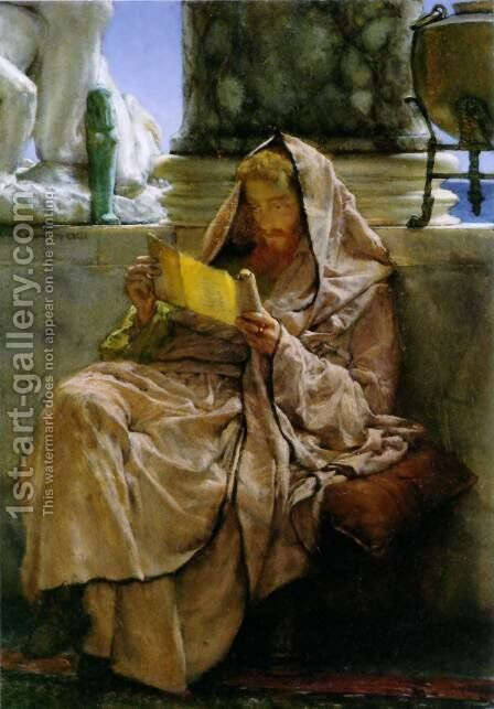 Prose by Sir Lawrence Alma-Tadema - Reproduction Oil Painting