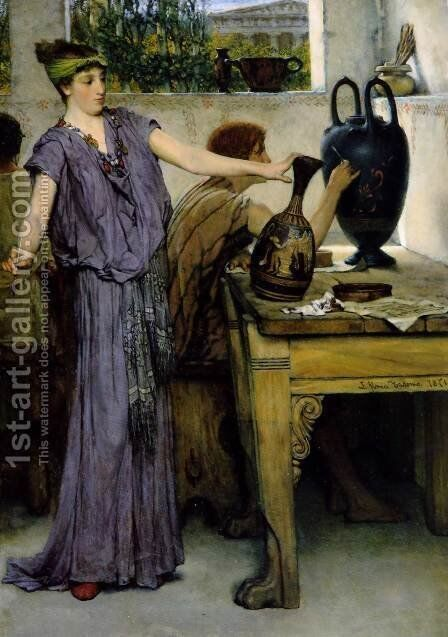 Pottery Painting by Sir Lawrence Alma-Tadema - Reproduction Oil Painting