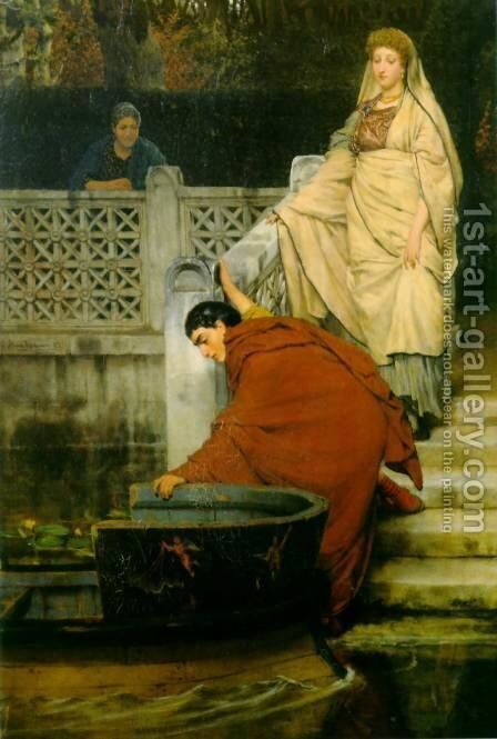 Boating by Sir Lawrence Alma-Tadema - Reproduction Oil Painting