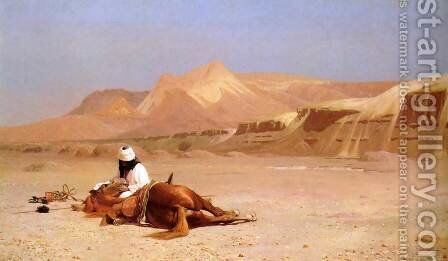 The Arab and his Steed (or In the Desert) by Jean-Léon Gérôme - Reproduction Oil Painting