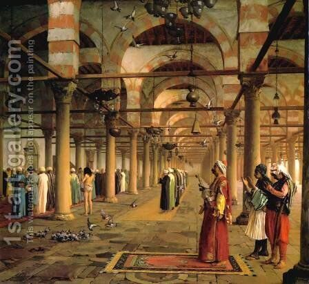 Public Prayer in the Mosque of Amr, Cairo by Jean-Léon Gérôme - Reproduction Oil Painting