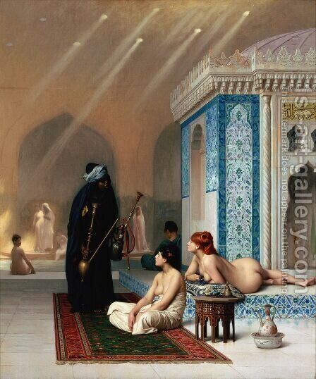 Harem Pool by Jean-Léon Gérôme - Reproduction Oil Painting