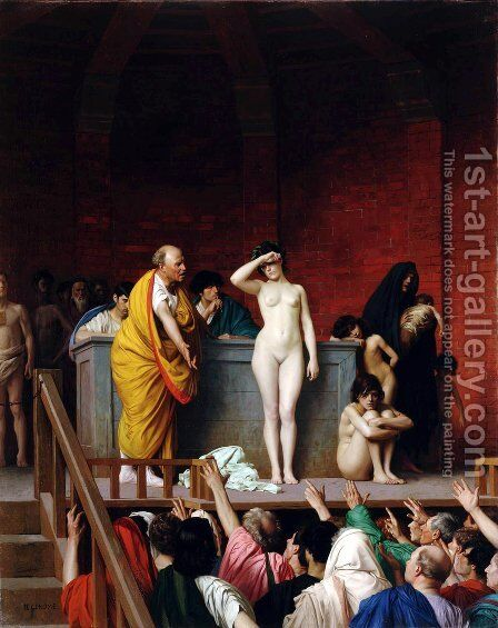 Slave Auction by Jean-Léon Gérôme - Reproduction Oil Painting