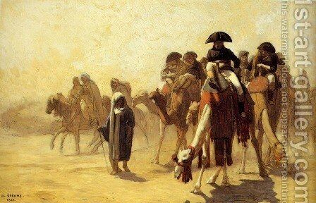 General Bonaparte With His Military Staff In Egypt by Jean-Léon Gérôme - Reproduction Oil Painting