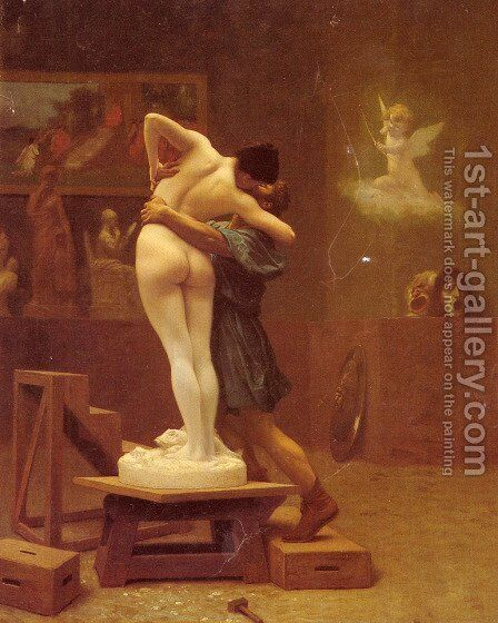 Pygmalion and Galatea by Jean-Léon Gérôme - Reproduction Oil Painting