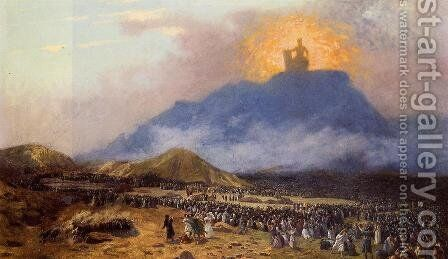 Moses on Mount Sinai by Jean-Léon Gérôme - Reproduction Oil Painting