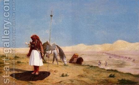 Prayer in the Desert by Jean-Léon Gérôme - Reproduction Oil Painting