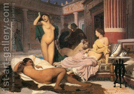 Greek Interior [sketch] by Jean-Léon Gérôme - Reproduction Oil Painting