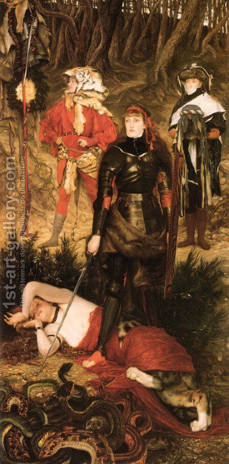 Triumph Of The Will: The Challenge by James Jacques Joseph Tissot - Reproduction Oil Painting