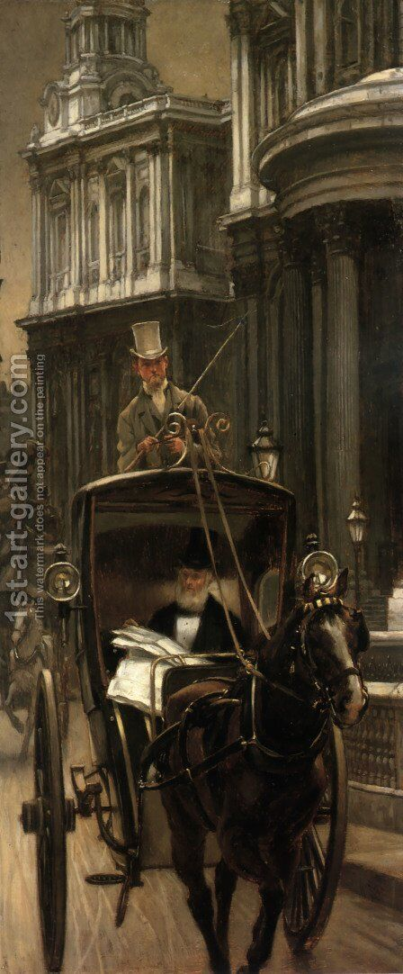Going to Business (or Going to the City) by James Jacques Joseph Tissot - Reproduction Oil Painting