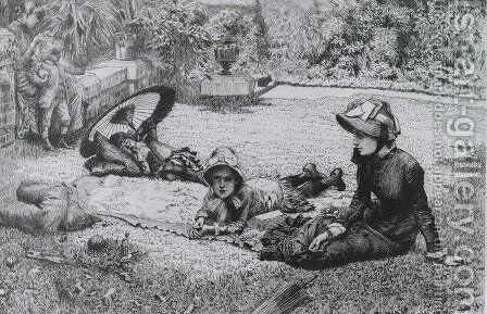 En Plein Soleil (Etching) (In The Sulight) by James Jacques Joseph Tissot - Reproduction Oil Painting