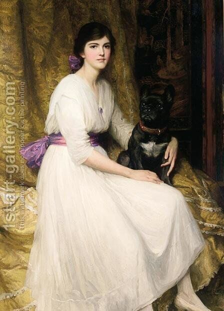 Portrait of the Artist's Niece, Dorothy by Sir Thomas Francis Dicksee - Reproduction Oil Painting