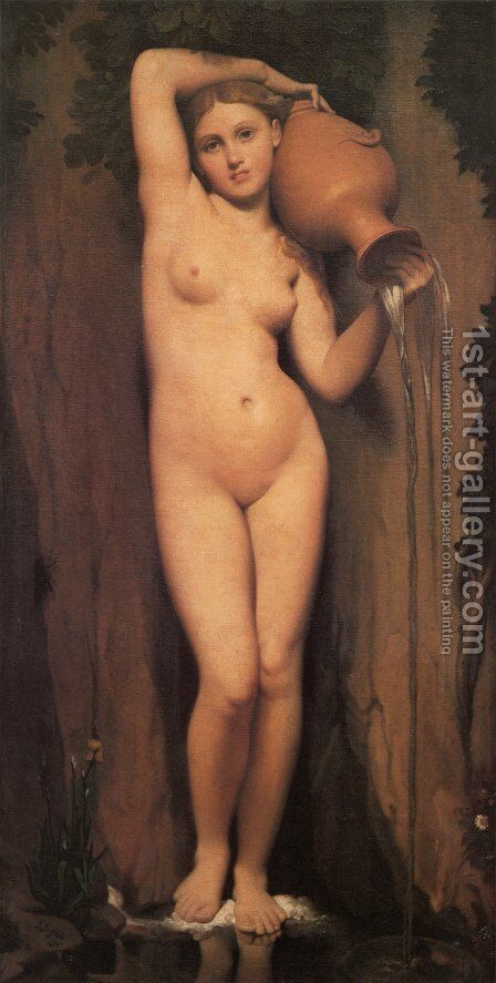 La Source (The Source) by Jean Auguste Dominique Ingres - Reproduction Oil Painting