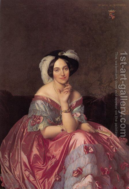 Baronne James de Rothschild, née Betty von Rothschild by Jean Auguste Dominique Ingres - Reproduction Oil Painting