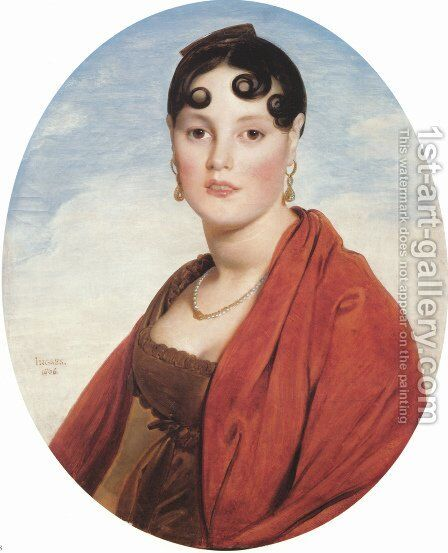 Madame Aymon, known as La Belle Zélie by Jean Auguste Dominique Ingres - Reproduction Oil Painting