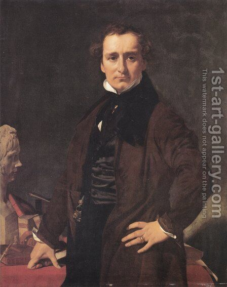Lorenzo Bartolini by Jean Auguste Dominique Ingres - Reproduction Oil Painting